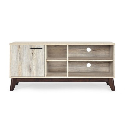 """Rattler Mid-Century Modern TV Stand with Storage for TVs upto 43"""" - Christopher Knight Home"""