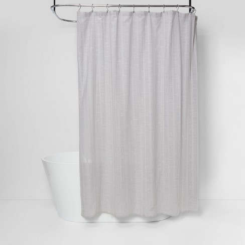Tonal Striped Shower Curtain Gray Threshold Target