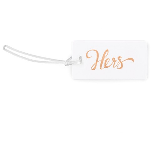 Hers' White Luggage Tags - image 1 of 1