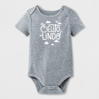 Baby Girls' Bodysuit - Cat & Jack™ Gray 0-3M