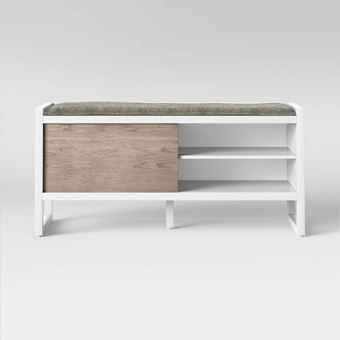 Fairglen Two Tone Entryway Bench Natural/White - Project 62™ - image 1 of 4