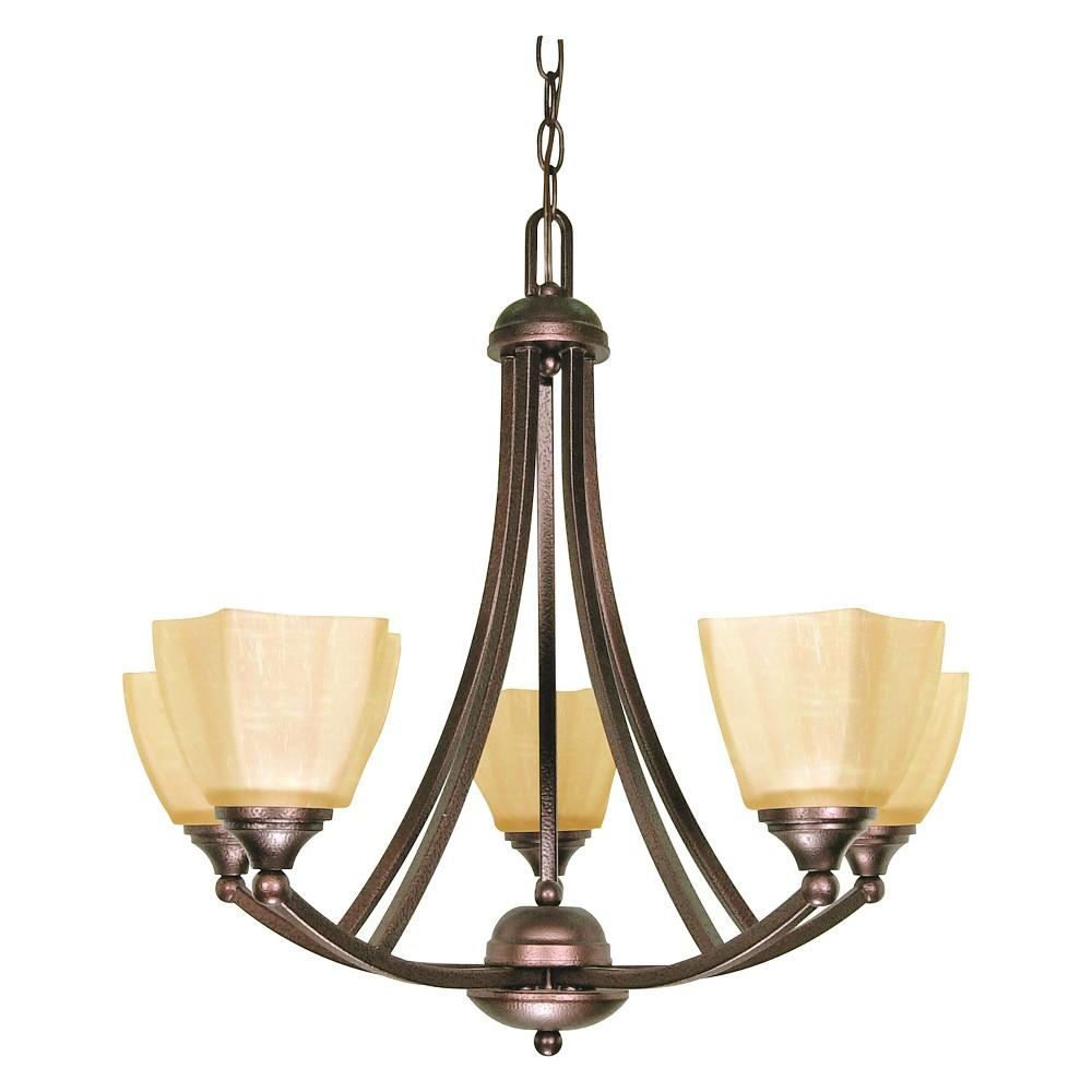 Image of Ceiling Lights Chandelier Copper Bronze - Aurora Lighting