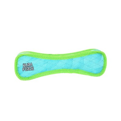 DuraForce Bone Dog Toy - Blue/Green - M/L
