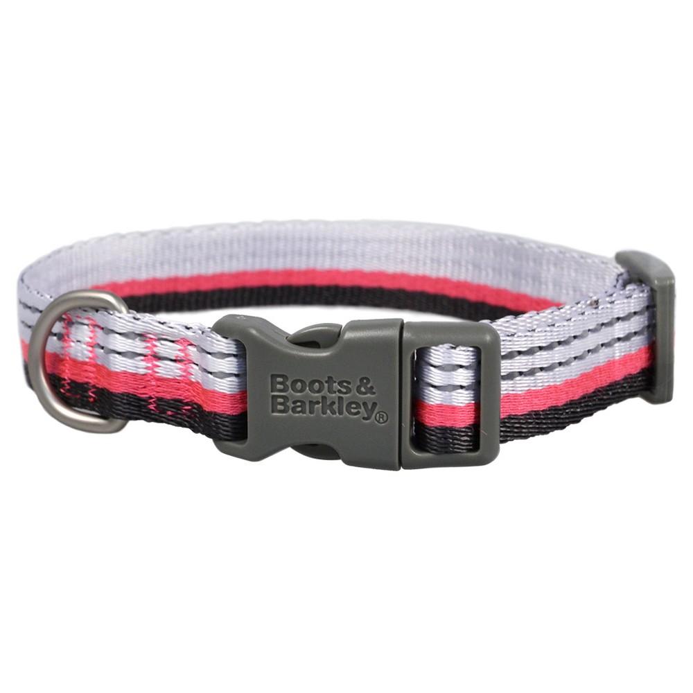 Reflective Dog Collar - Pink - Small - Boots & Barkley