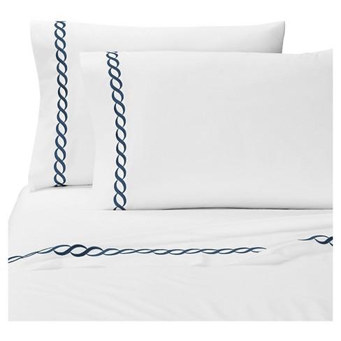 Embroidered Scroll Border Catena Pillow Sham 2pc - Kassatex® - image 1 of 2