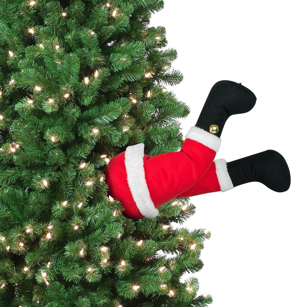 "Image of ""16"""" Animated Santa Christmas Kickers Decorative Figurine - Mr. Christmas"""