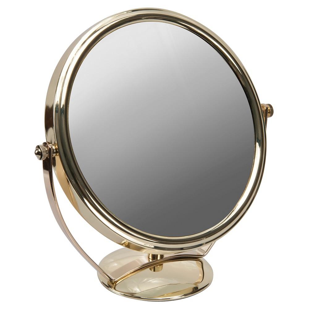 Harry Koenig Gold Plated Round Bathroom Mirror 5X 8 in