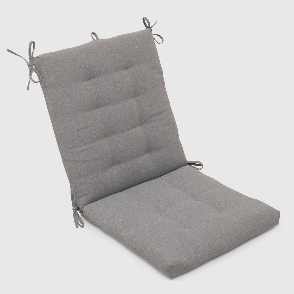 Outdoor Tufted Chair Cushion Gray - Threshold
