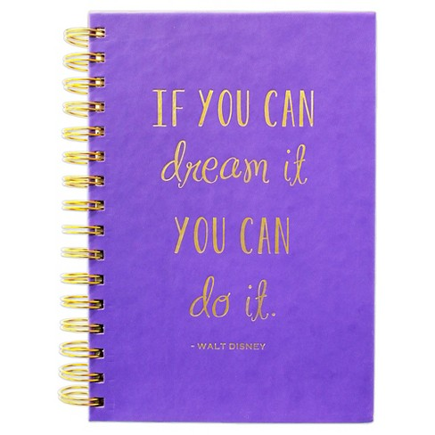 """Eccolo Spiral Journal, Narrow Rule, 6"""" x 8"""", 200 sheets - Purple - image 1 of 2"""