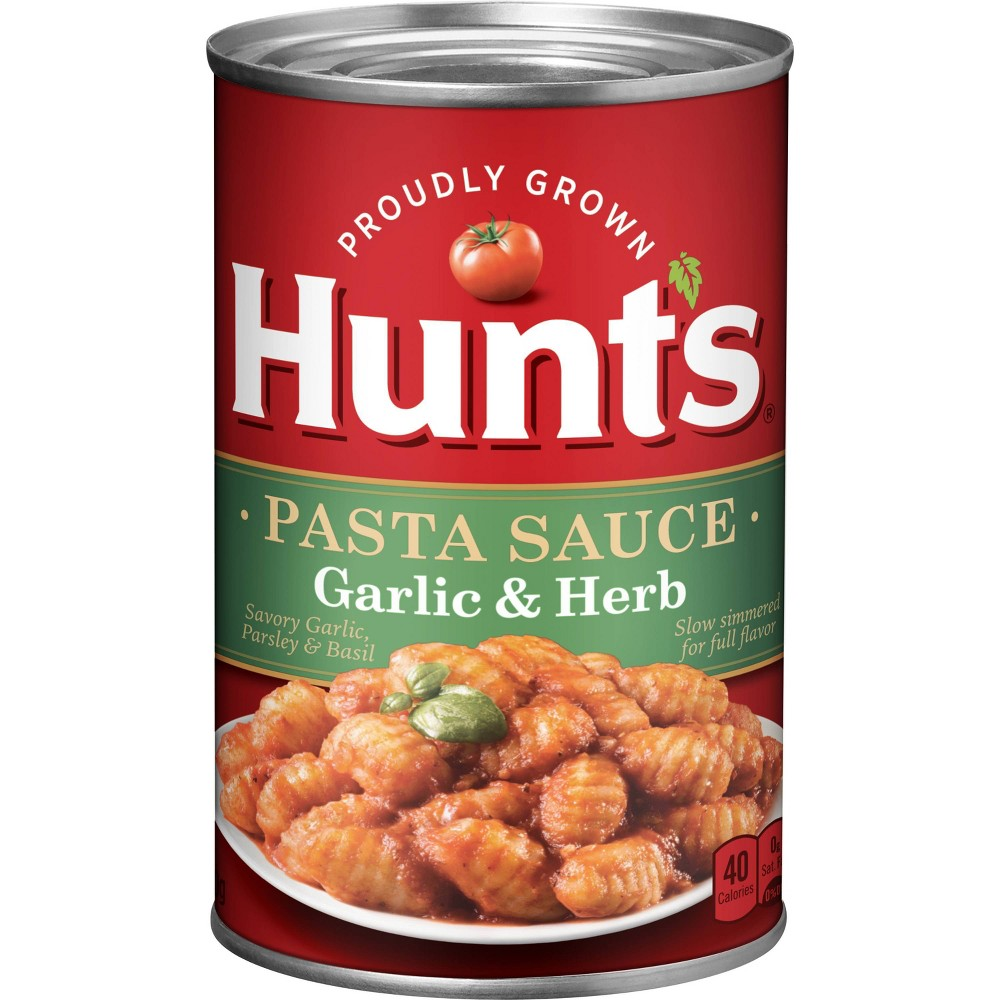 Hunt 39 S Classic Italian Garlic 38 Herb Spaghetti Sauce 26oz