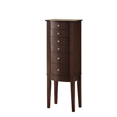 Francesca Jewelry Armoire Merlot Brown - Powell Company - image 1 of 4