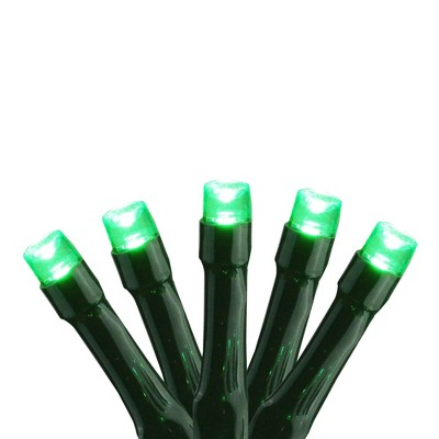 Brite Star 15ct Battery Operated Micro LED Christmas Lights Green - 4.8' Green Wire