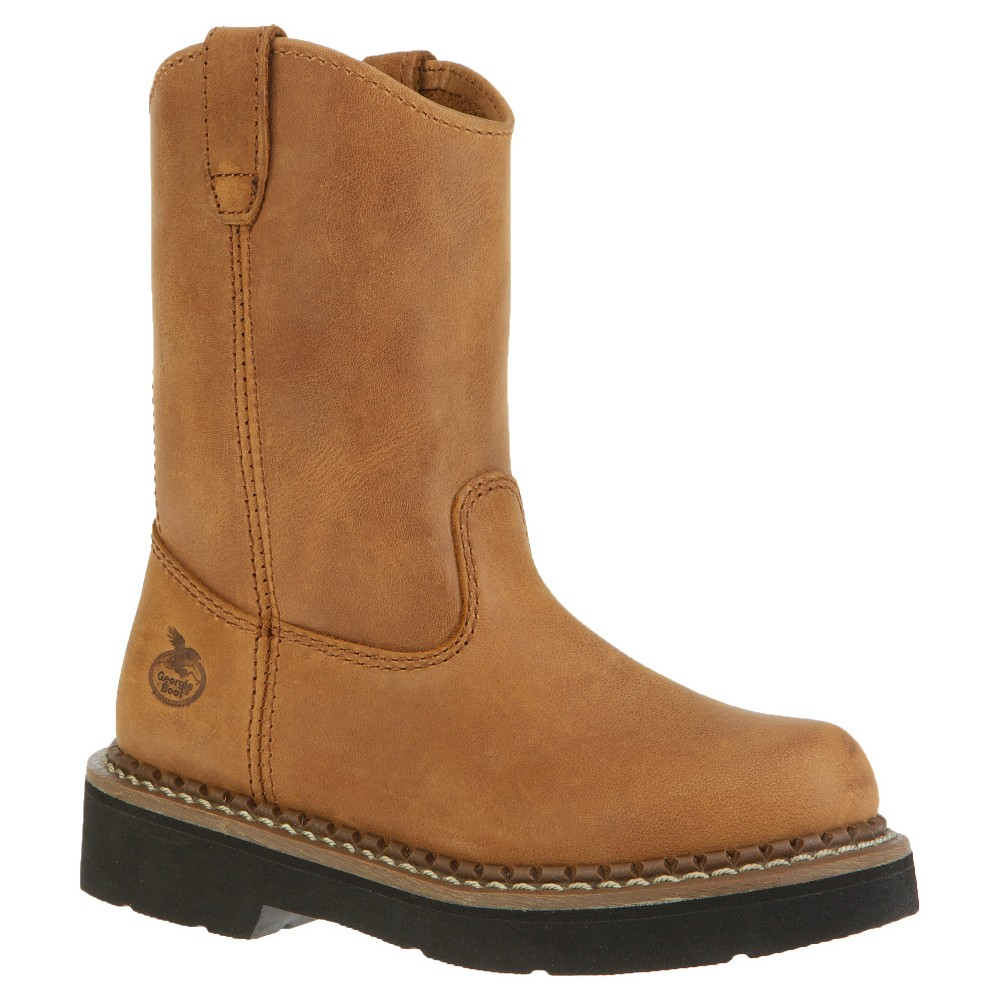 Georgia Boot Boys' Pull On Boots - Tan 4.5M, Size: 4.5
