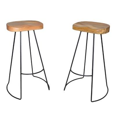 "Set of 2 30"" Vale Barstools - Carolina Chair & Table"