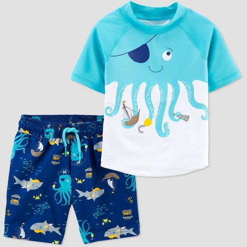 Baby Boys' Octopus Swim Rash Guard Set - Just One You® made by carter's Blue - image 1 of 1