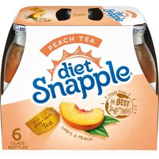 Diet Snapple Peach Tea - 6pk/16 fl oz Glass Bottles