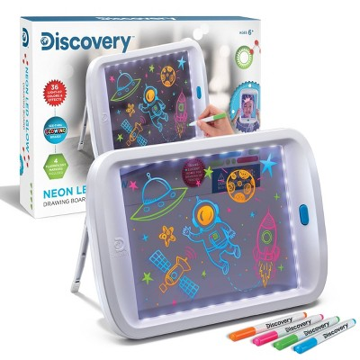 Neon LED Glow Drawing Board - Discovery Kids