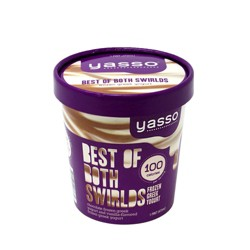 Yasso Frozen Greek Yogurt - Best Of Both Swirlds - 1pt