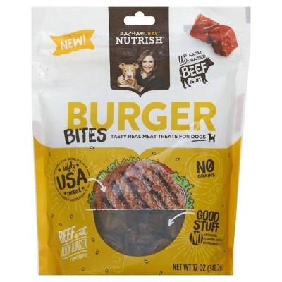 Rachael Ray Nutrish Burger Bites Dog Treats Beef Burger with Bison Recipe 12oz