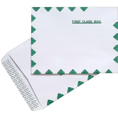 """MyOfficeInnovations First-Class EasyClose Catalog Envelopes 10"""" x 13"""" White 100/BX 486930"""