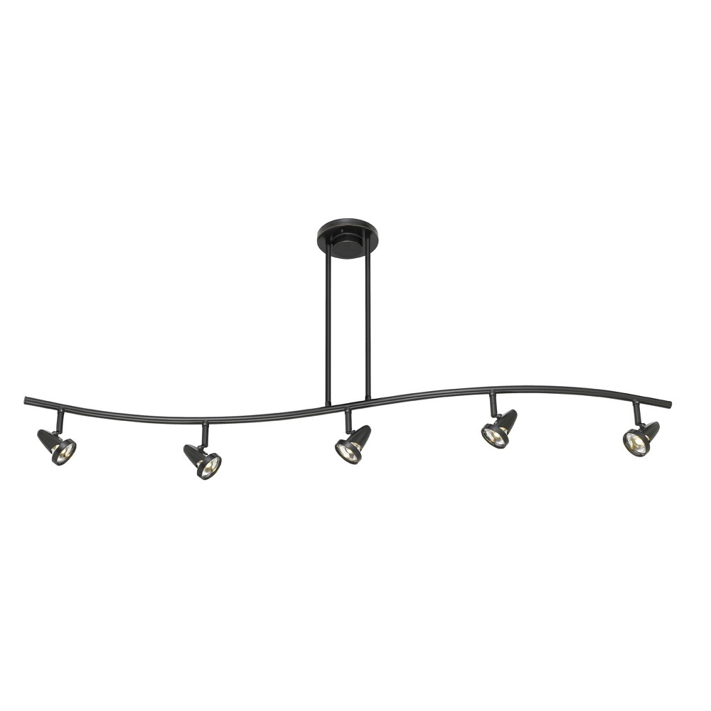 Integrated Led Serpentine Rail Fixture Comes with A Pair Of Extension poles Bronze 11.5x6 Ceiling lights - Cal Lighting