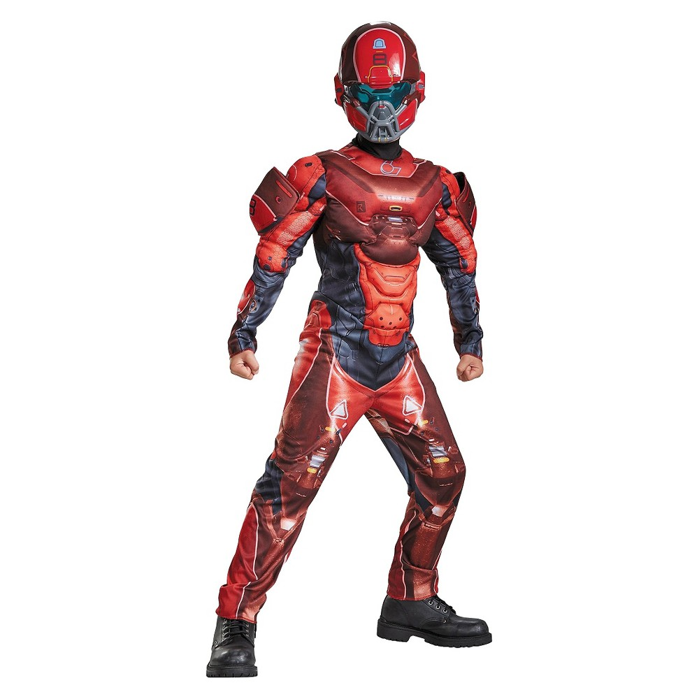 Kids' Halo Red Spartan Classic Muscle Costume - Medium, Boy's, Size: M(8-10)