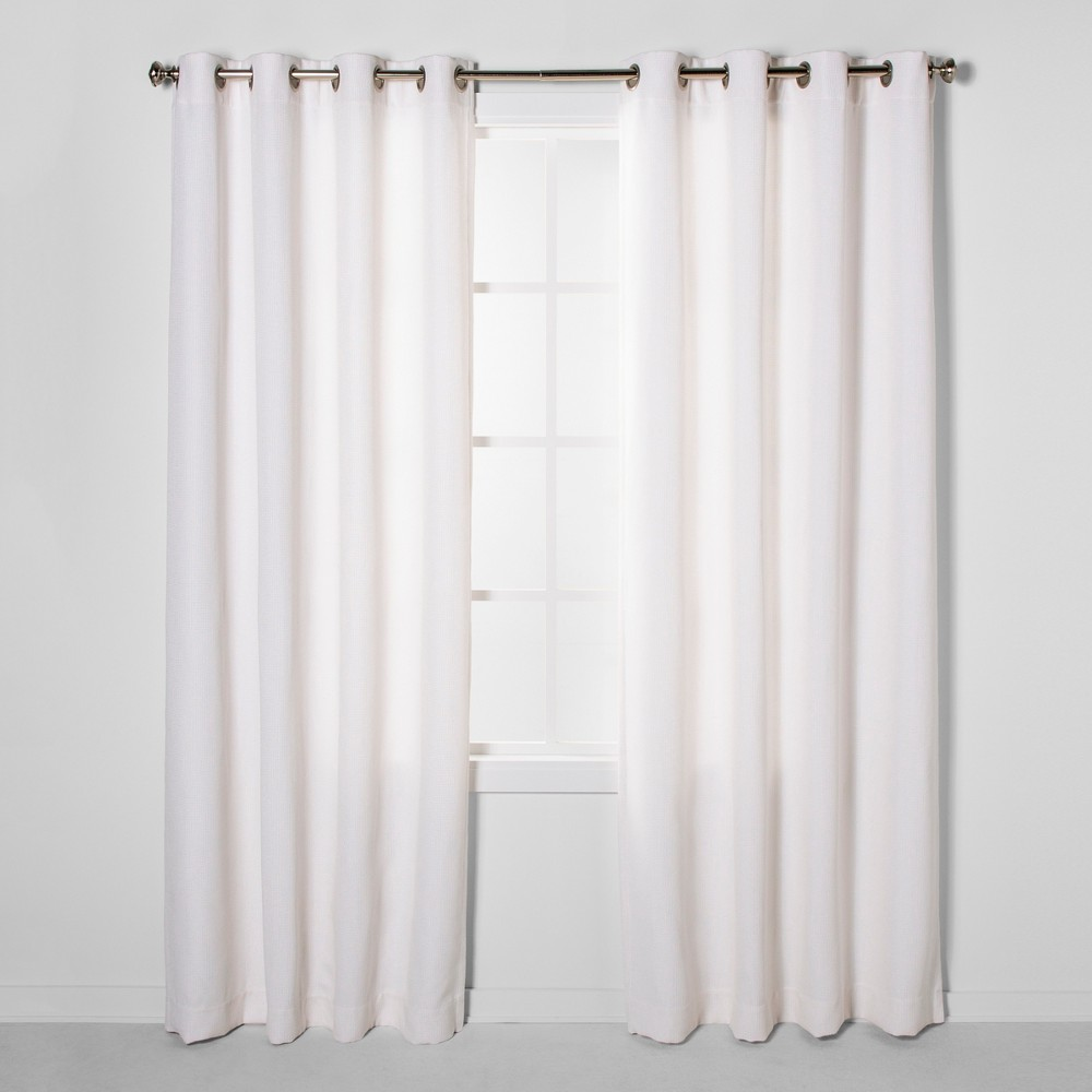 """Image of """"108""""""""x50"""""""" Luster Basket Light Filtering Weave Curtain Panels Cream - Project 62 , Ivory"""""""