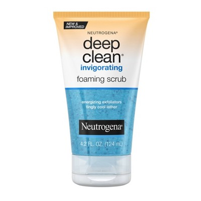 Facial Cleanser: Neutrogena Deep Clean Invigorating Foaming Scrub