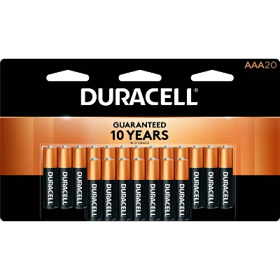 Duracell Coppertop AAA Batteries - 20 Pack Alkaline Battery