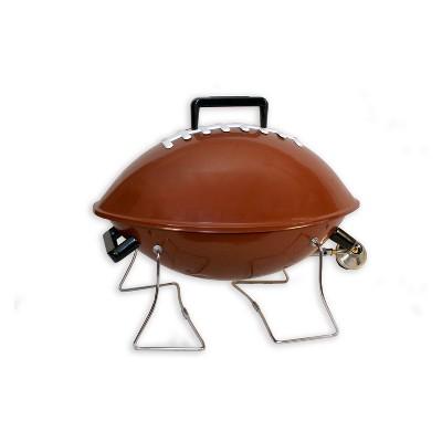Keg-a-Que Football Gas Grill 10105 Silver