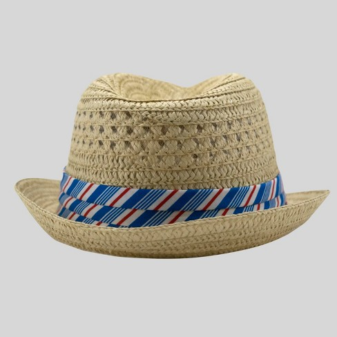 7acda212862 Baby Boys  Straw Weave Fedora - Cat   Jack™ Neutral 12-24M   Target