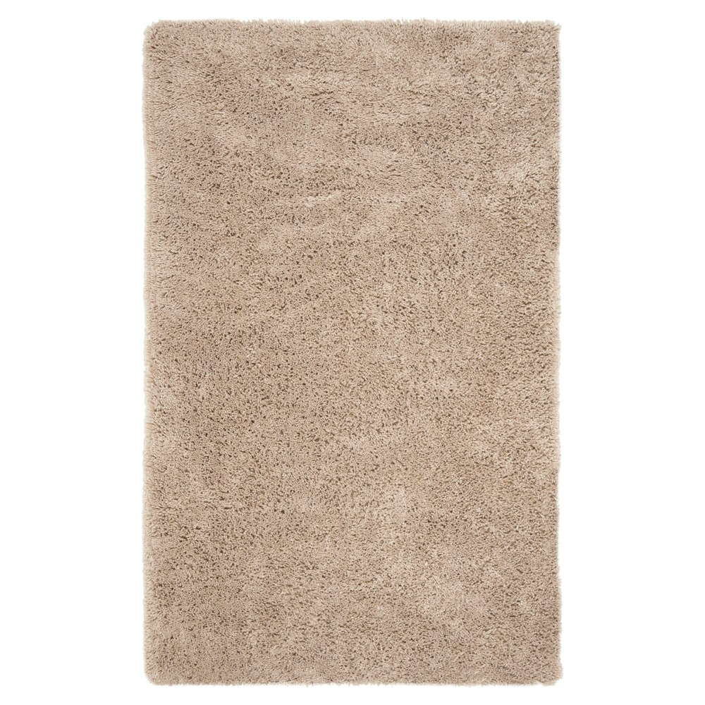Taupe (Brown) Solid Tufted Area Rug - (9'6