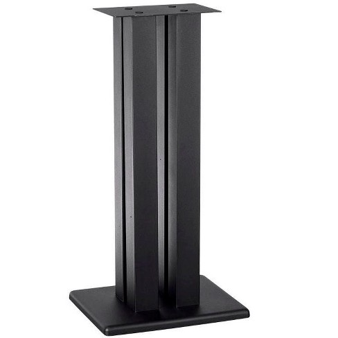 Monolith 24 Inch Speaker Stand (Each) - Black   Supports 75 lbs, Adjustable Spikes, Compatible With Bose, Polk, Sony, Yamaha, Pioneer and others - image 1 of 4