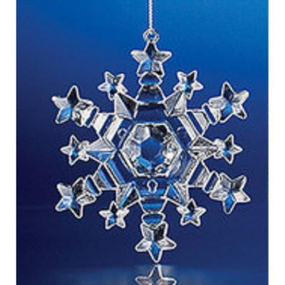 Northlight Decorative Crystal Looking Christmas Snowflake Ornament 3 Target