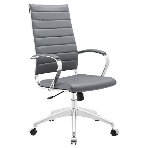 Office Chair Modway Armor Gray Target