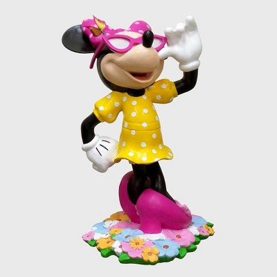 "Disney 18"" Minnie Mouse With Flowers Resin Statue"