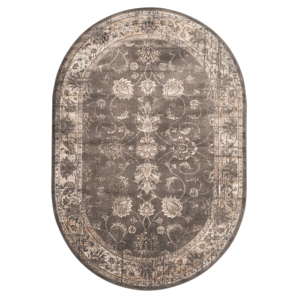 Matilde Vintage Area Rug - Soft Anthracite (5'3