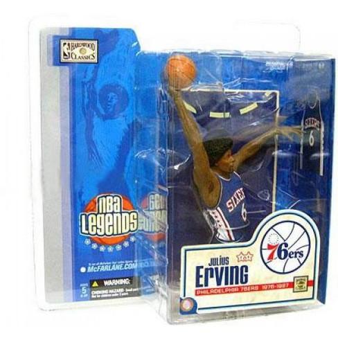 McFarlane Toys NBA Philadelphia 76ers Sports Picks Legends Series 1 Julius Erving Action Figure [Blue Jersey] - image 1 of 1