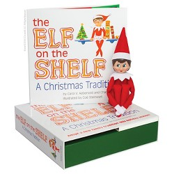 The Elf on the Shelf: A Christmas Tradition with Light Skin Tone Girl Scout Elf