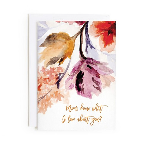 Minted Grecian Floral Card - image 1 of 1