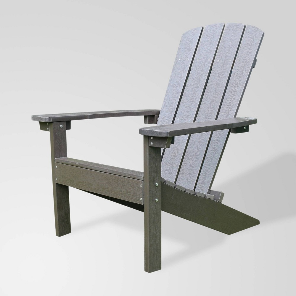 Image of Lakeside Faux Wood Adirondack Outdoor Portable Chair Espresso - Merry Products
