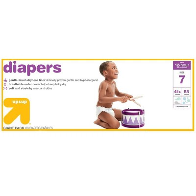 Diapers Giant Pack Size 7 - 88ct - Up&Up™