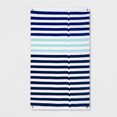 Hunter for Target Striped Beach Towel - Blue