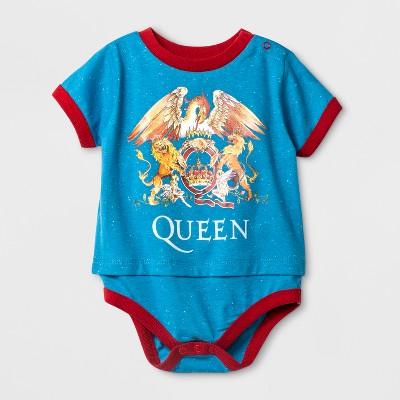 Baby Boys' Queen Short Sleeve Bodysuit - Blue 6-9M