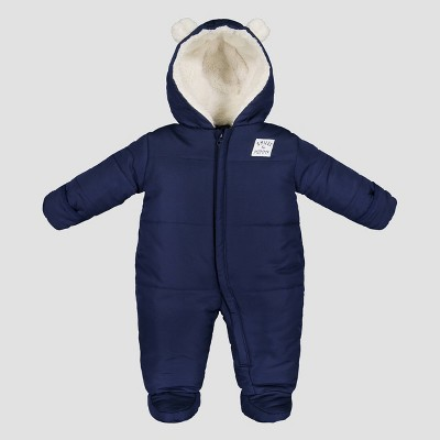 Baby Boys' Bear Snowsuit - Just One You® made by carter's Navy Newborn