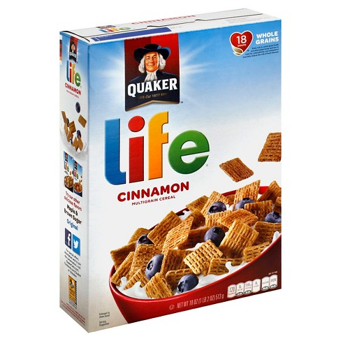 Life Cinnamon Breakfast Cereal  - 18oz - Quaker Oats - image 1 of 4