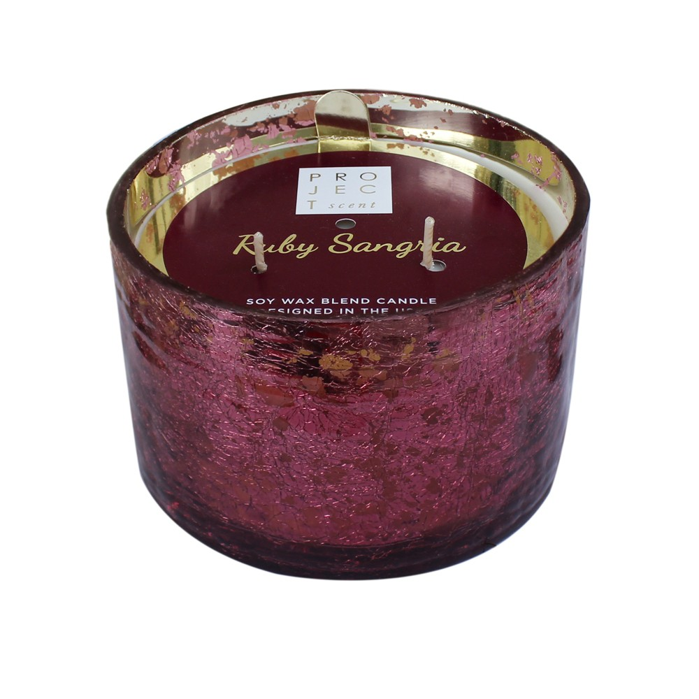 16.9oz Coffee Table Jar 3-Wick Candle Ruby Sangria - Chesapeake Bay Candle, Pink