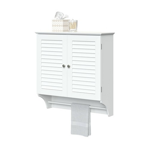 Hanging Storage Cabinet with Louvered Doors - image 1 of 4