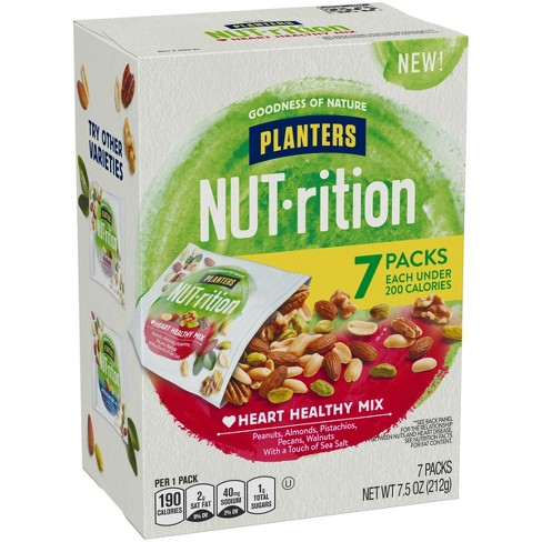 Planters Nut-Rition Heart Healthy Mixed Nuts - 7.5oz - 5ct - image 1 of 3