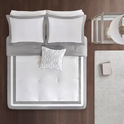4pc King/Cal King Floyd Comforter Set Gray